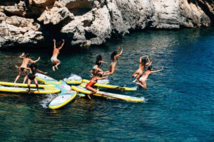 sitios secretos con el stand up paddle surf en Ibiza
