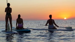 Paddle surf Ibiza sunset
