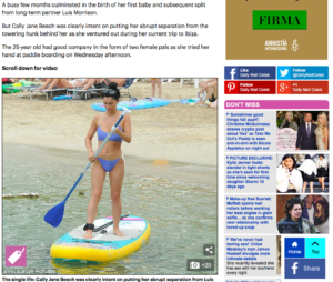 cally jane en SUP Yoga iBiza